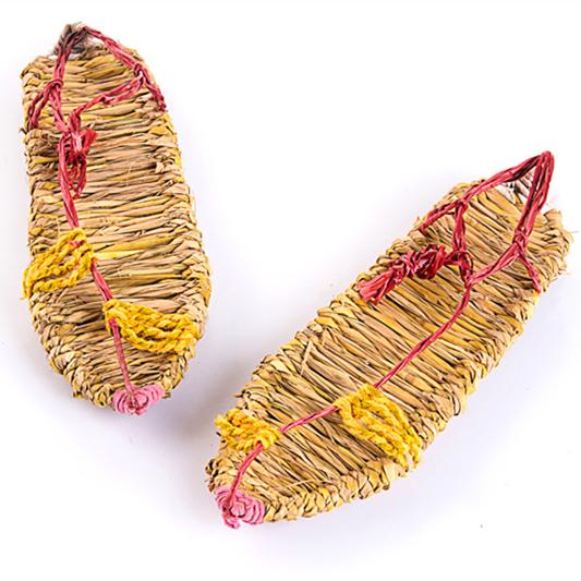 草鞋编织潮流纯手工艺品夏季系带凉鞋麻鞋稻草复古男女红军休闲鞋