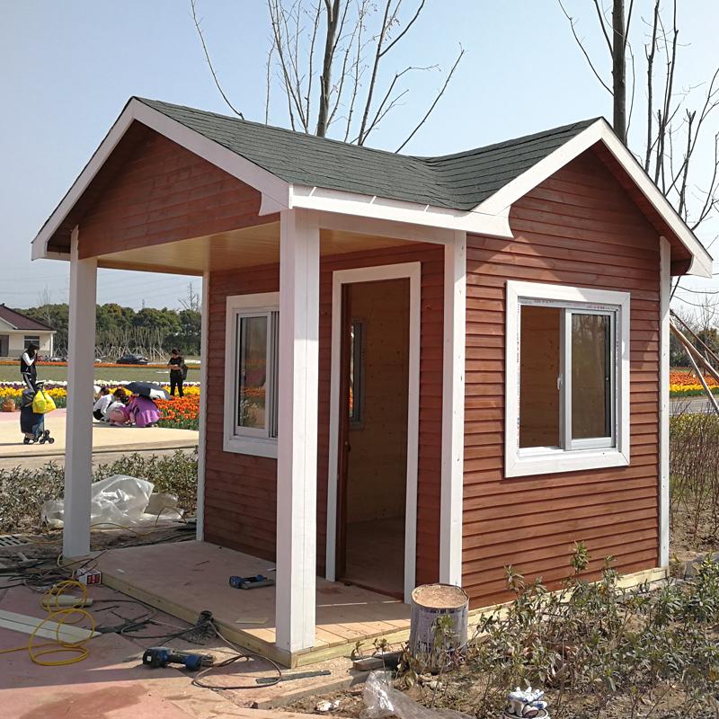 定制木房子户外防腐木小木屋别墅小型组装乡村实木移动房子售货亭