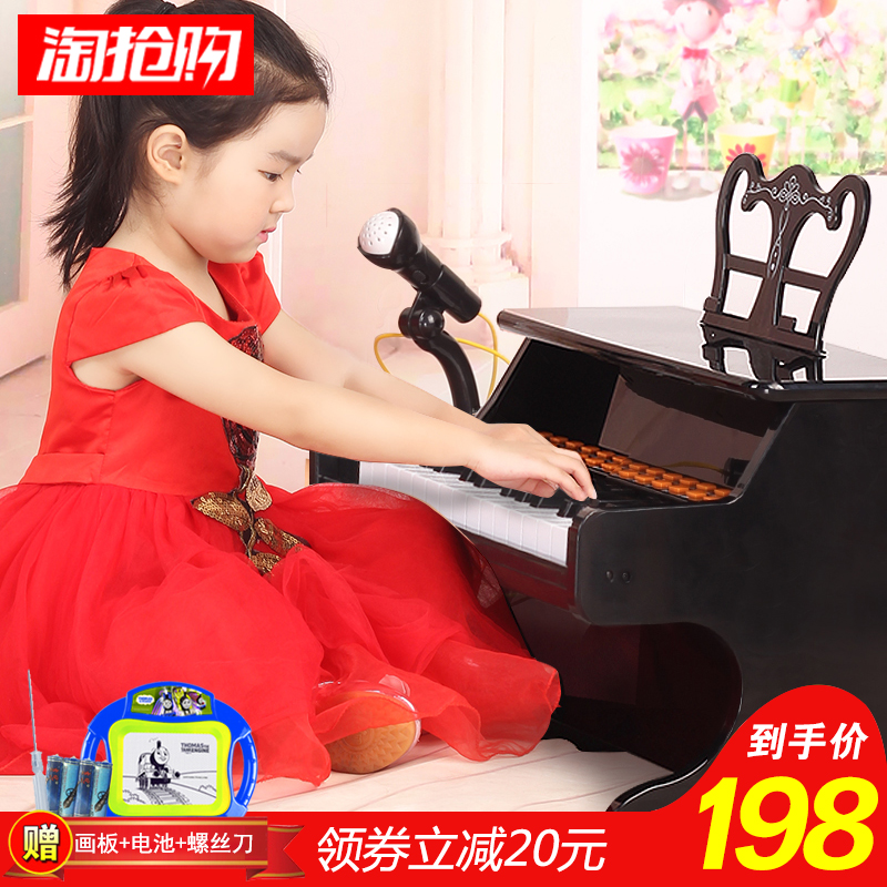 儿童电子琴男女孩钢琴小孩琴初学插电带麦克风宝宝1-3-6岁玩具琴