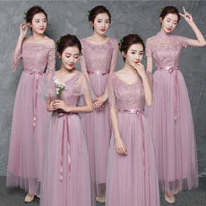 Bridesmaid dress 2018 new spring and summer Korean version of the long-sleeved performance clothing gray long sisters skirt bridesmaid dress