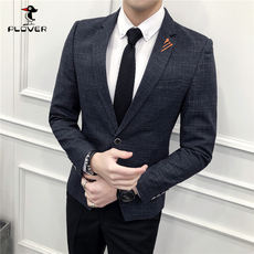 2018 autumn casual suit men's self-cultivation business jacket coat large size youth Korean version of the single men's small suit