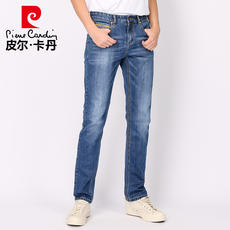 Spring and summer jeans men straight Pierre Cardin youth men's trousers Slim cow pants light color men's pants new