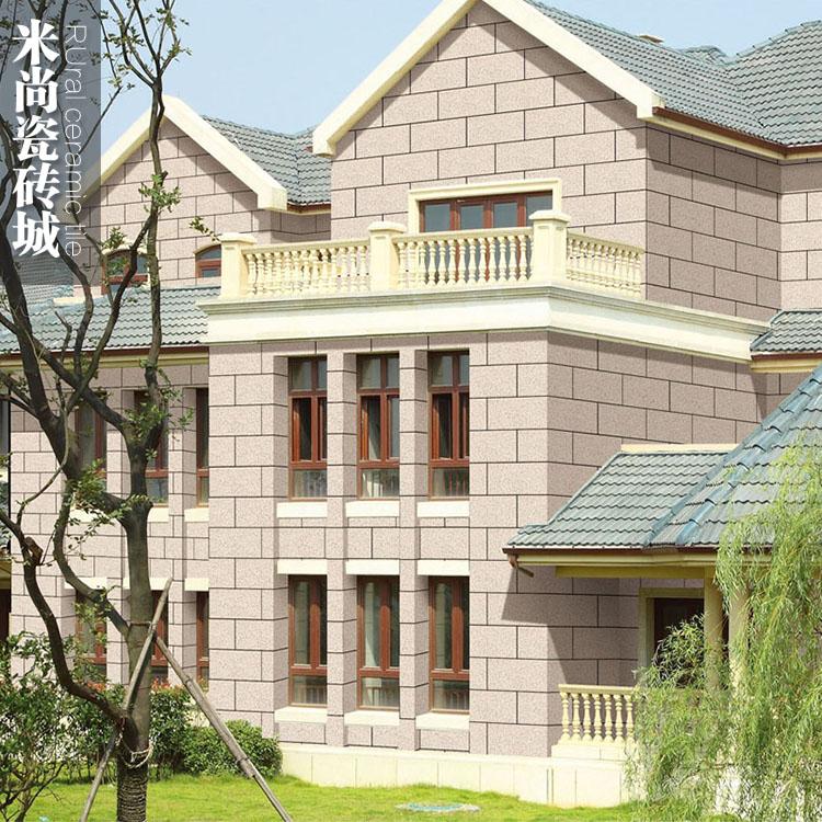 仿花岗岩外墙砖  米黄色现代欧式别墅自建房简约300X600农村抗冻