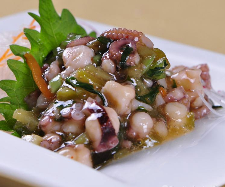 芥末章鱼110g 原装即食海鲜日本料理凉菜洋琪寿司材料 满额包邮