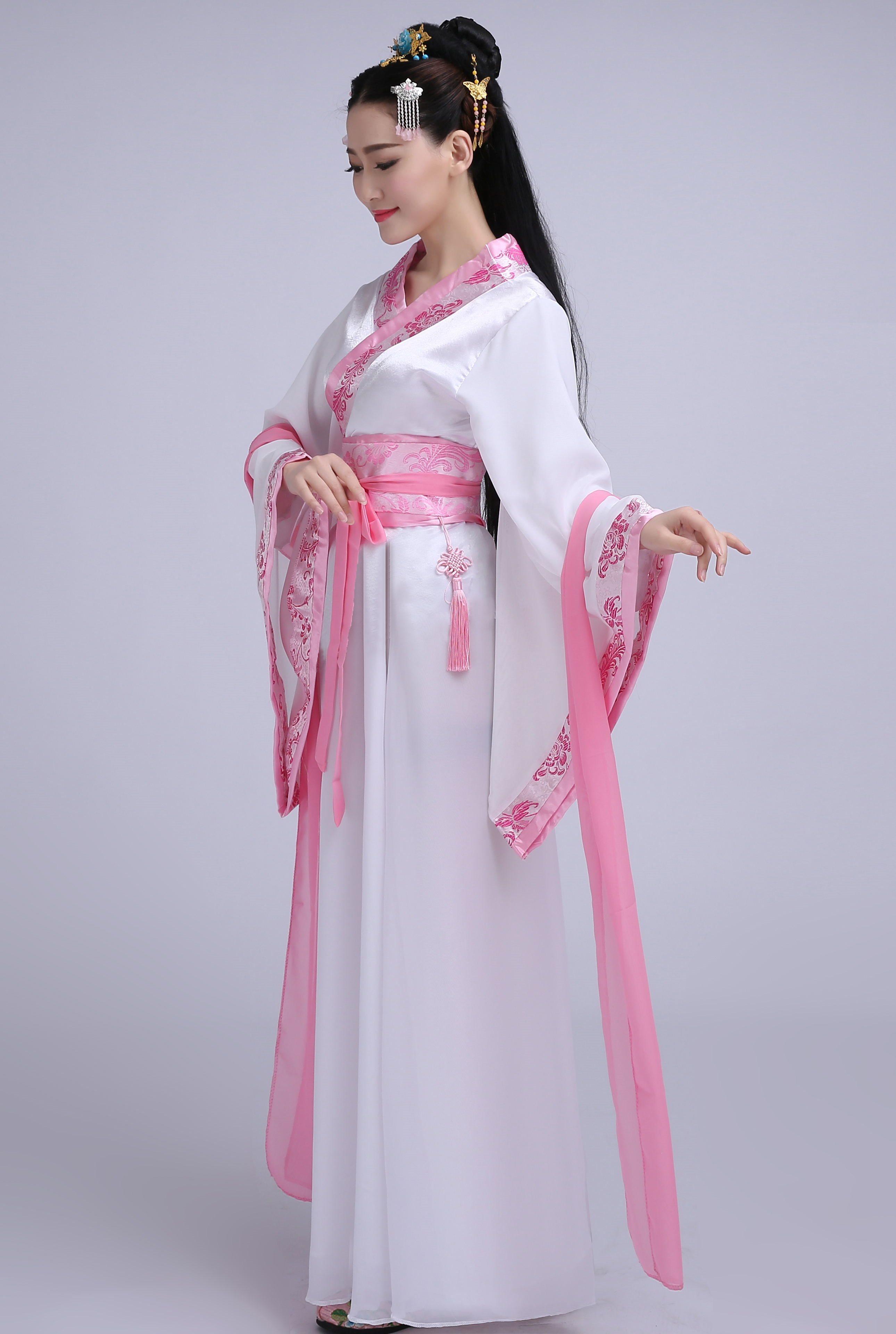 古装学生仙女装表演服古代公主古筝汉服影楼写真服装唐装