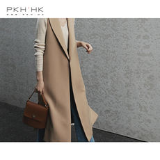 PKH.HK Special spring new products The simpler the more temperament The sense of the big lapel with the belt straight vest