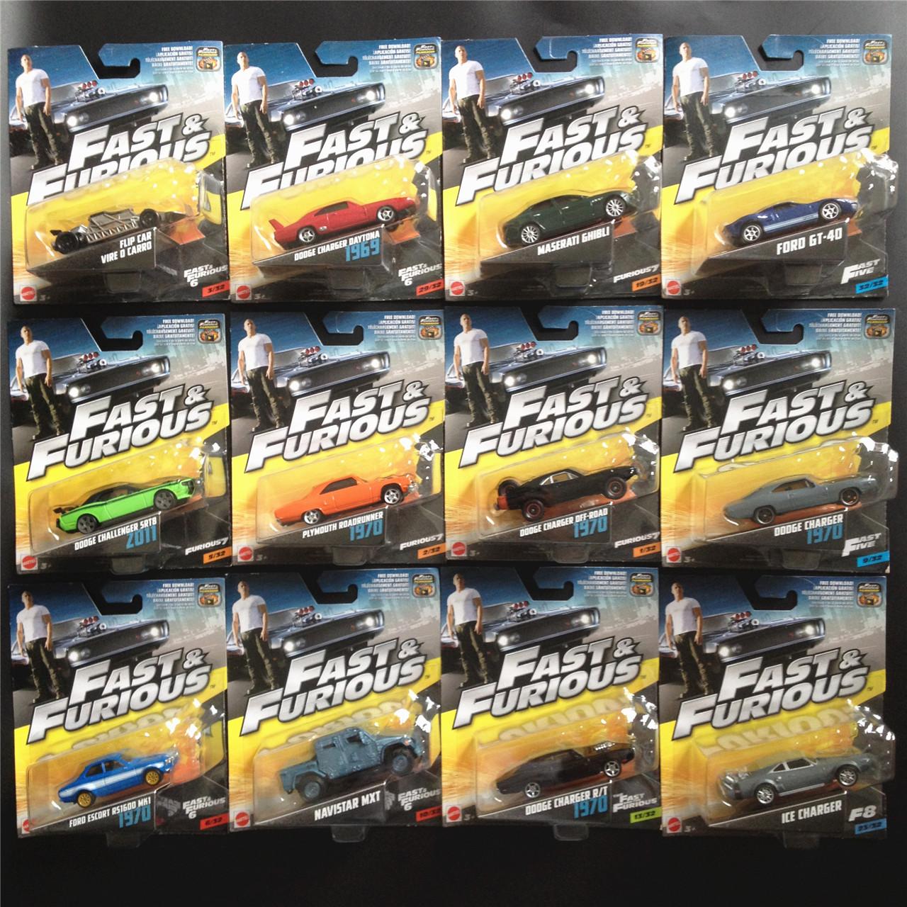 美泰速度与激情8合金小跑车系列 珍藏版汽车模型玩具道奇战马1/55