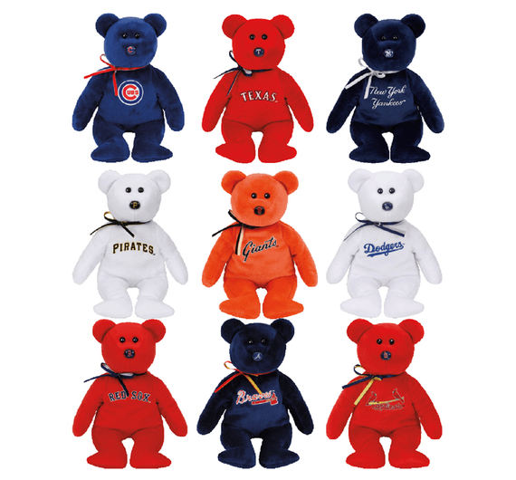 American MLB Major League Baseball Plush Dolls Doll Toys Bears ty Beanie Baby