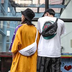 韩版嘻哈潮牌腰包男运动时尚个性单肩斜挎包女胸包土酷包蹦迪小包