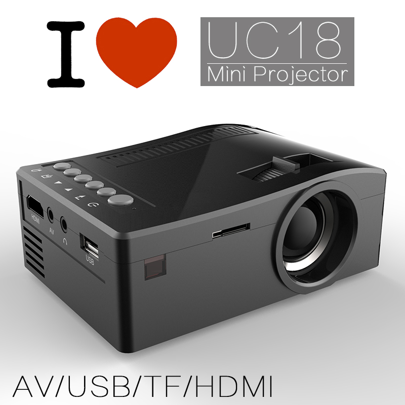 优丽可UC18(T16) mini projector 高清便携led 1080P投影机