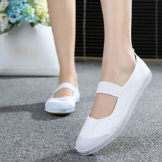 Qingdao Global National Road White Gym Shoes Classic White Dance Shoes Canvas Low Shoes Single White Shoes Painting Shoes
