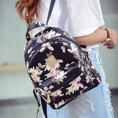 Backpack bag 2019 new wave spring and summer casual ladies backpack butterfly pattern Korean version of the wild college wind