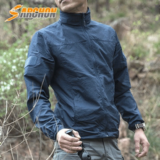 Summer outdoor sun protection clothing men's ultra-thin breathable and quick-drying skin clothing tactical sports windbreaker sunscreen long-sleeved jacket
