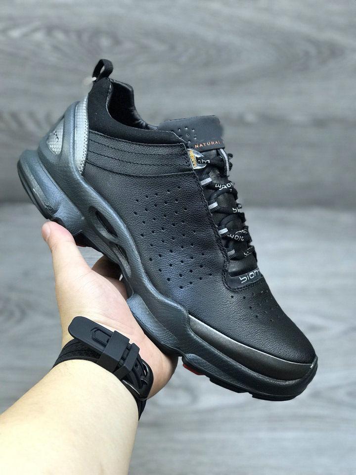 男鞋低帮户外运动跑步鞋bion健步鞋舒适缓震牛皮系带透气091504