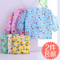 Baby smock autumn and winter cotton dinner clothes waterproof anti-dirty boys and girls bibs infant children long-sleeved anti-dressing
