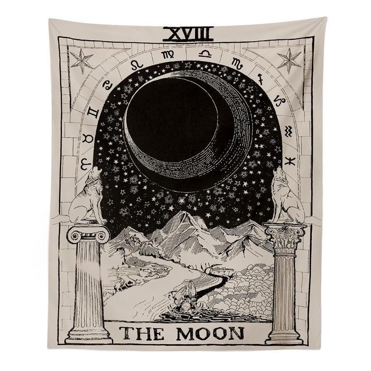 欧美星象太阳星星月亮床头卧室墙壁装饰挂毯墙挂布桌布背景布挂画
