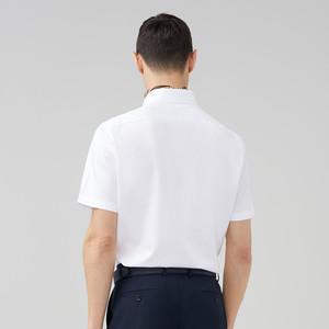 雅戈尔夏季男士免烫短袖衬衫中青年商务休闲薄款棉职业衬衣A532