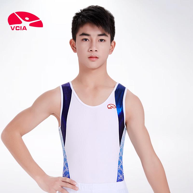 掌柜推荐VCIA2018男体操运动服舞蹈体操服艺术体操服 连体服男