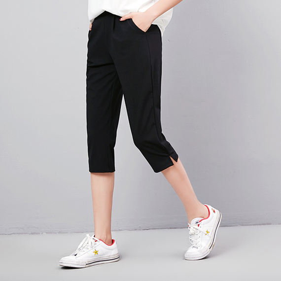 Sports pants cropped trousers female summer thin section large size loose casual shorts harem pants female students pants pants