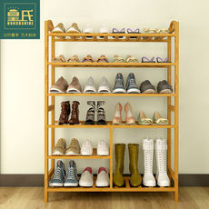 Shoe rack multi-layer simple household shoe cabinet economy bamboo solid wood storage rack multi-function group equipment rack