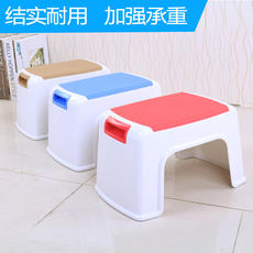 Bo Yue anti-skid stool bathroom square stool dining table stool plastic household bench chair thickening reinforcement stool small stool