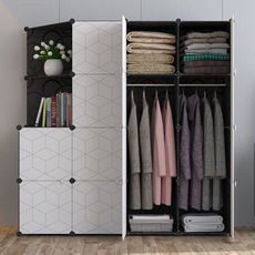 Simple assembly storage simple modern economy dormitory rental plastic wardrobe single double combination home wardrobe