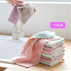 家务清洁抹布家用厨房用品洗碗布不沾油不掉毛加厚吸水去油洗碗巾