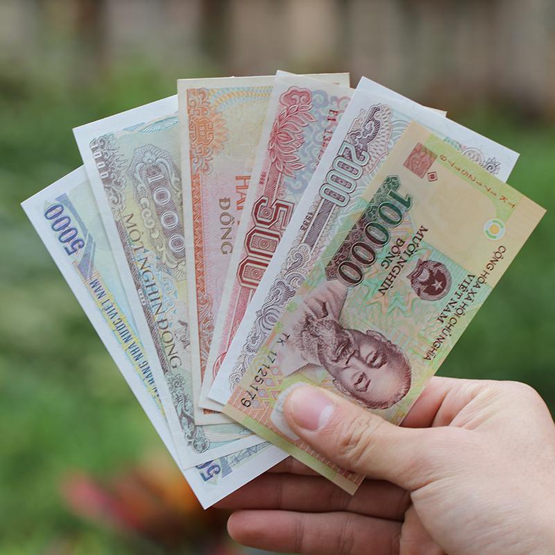 全新越南钱币/盾一套6张 一万八千七 外国钱币经典收藏单拍不包邮