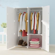 Wardrobe plastic simple economical simple modern household small cabinet single bedroom dormitory assembly storage cabinet