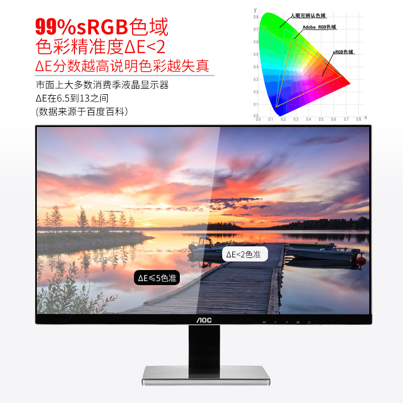 AOC U2777PQU 27英寸4K超清IPS电脑显示器设计师摄影高清液晶显示屏升降旋转可壁挂PS4外接笔记本32NS屏幕2K