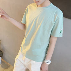 Youth short-sleeved t-shirt male 14-15-16-18 junior high school students S code bottoming shirt boys big boys clothes