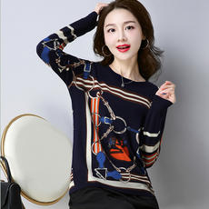 2018 autumn and winter from Ordos cashmere sweater women's round neck thin sweater sweater knit bottoming shirt