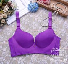 Brushed glossy no trace one-piece gathering adjustment type rimless bra bra underwear female bra sexy