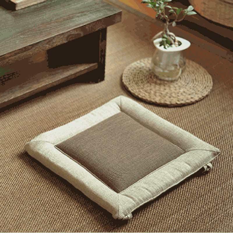 日式简约手工全麻榻榻米坐垫椅子坐垫飘窗坐垫茶艺茶几坐垫包邮