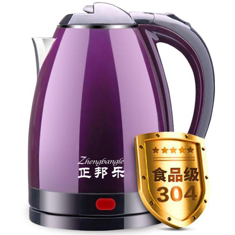 大容量双层防烫快壶家用电热烧水壶304不锈钢自动保温断电煮茶壶