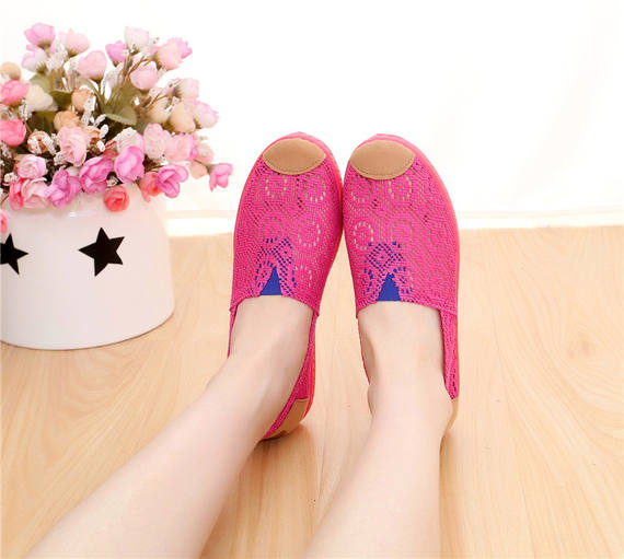 Summer women's mesh shoes, Beijing old cloth shoes, comfortable shoes, flat bottom, sports shoes, casual mother shoes