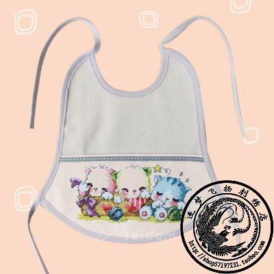 冲皇冠 韩国耶单蒂莱特十字绣 空白辅料 婴儿服饰 钟形围兜