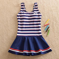 Girls' swimsuits, one-piece children's students, conservative skirts, swimwear, boxers, children's swimwear, 12-15 years old