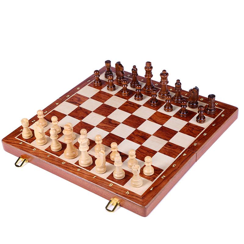 木质磁性国际象棋儿童成人套装折叠棋盘益智桌面游戏西洋棋比赛