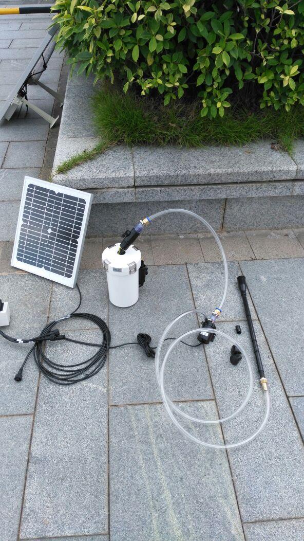 12V10W太阳能喷泉水泵鱼池鱼缸增氧过滤循环排污潜水景观植株浇灌