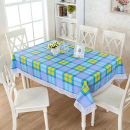 PVC防水桌布防油防烫田园免洗台布正方形长方形塑料欧式餐桌布垫