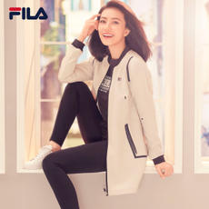 FILA Fila women's jacket high round with the same paragraph 2018 spring new long paragraph baseball suit windproof sports jacket female
