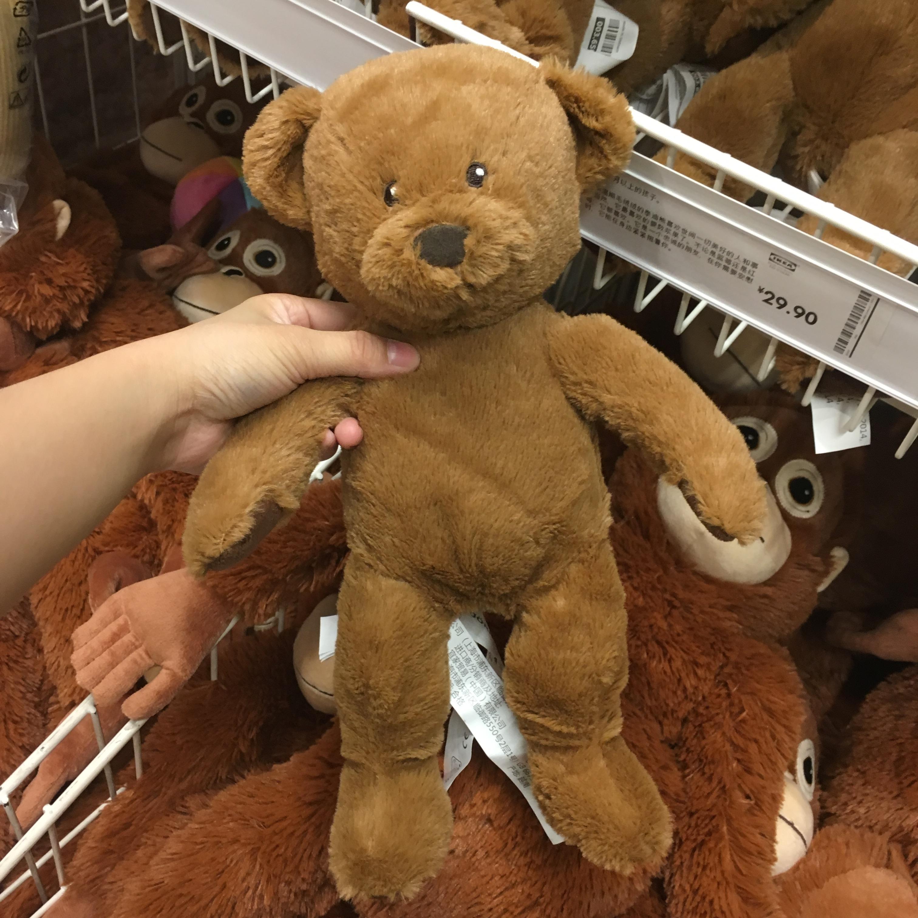 包邮ikea宜家毛绒玩具熊小熊教程陪伴玩具过家家儿童国内代购proe玩具玩具图片
