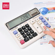 Effective DL-2135 calculator voice large button solar bank financial special computer office supplies large powerful calculator multi-function large screen 12-bit display keyboard button