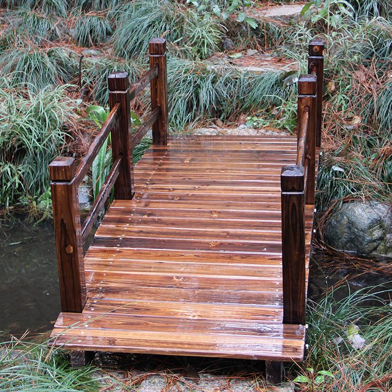 防腐木桥 景观园艺户外流水小桥 木质小桥公园花园碳化防腐景观实