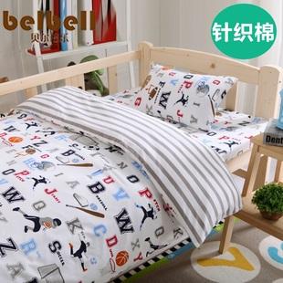 幼儿园被子三件套全棉儿童床上用品纯棉午睡棉被褥宝宝婴儿被套