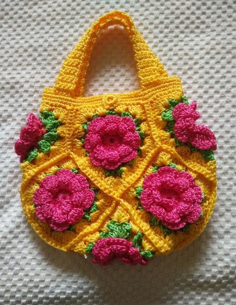 包邮手工钩包编织包手勾包花朵手提包手钩包手拎包收纳包成品