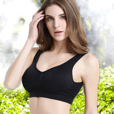 Seamless underwear sexy girl bra vest type XL thin section 200 kg plus fertilizer increase no steel ring bra
