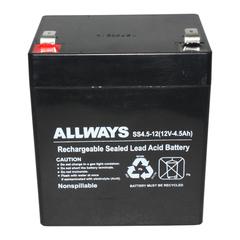 ALLWAYS 12V 4.5AH SS4.5-12 铅酸免维护蓄电池 UPS电源用 换电池