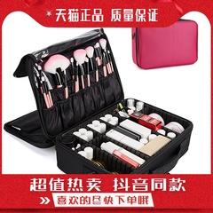 蠹多層專業化妝箱大號手提美妝箱跟妝美甲紋繡半紋眉工具收納包